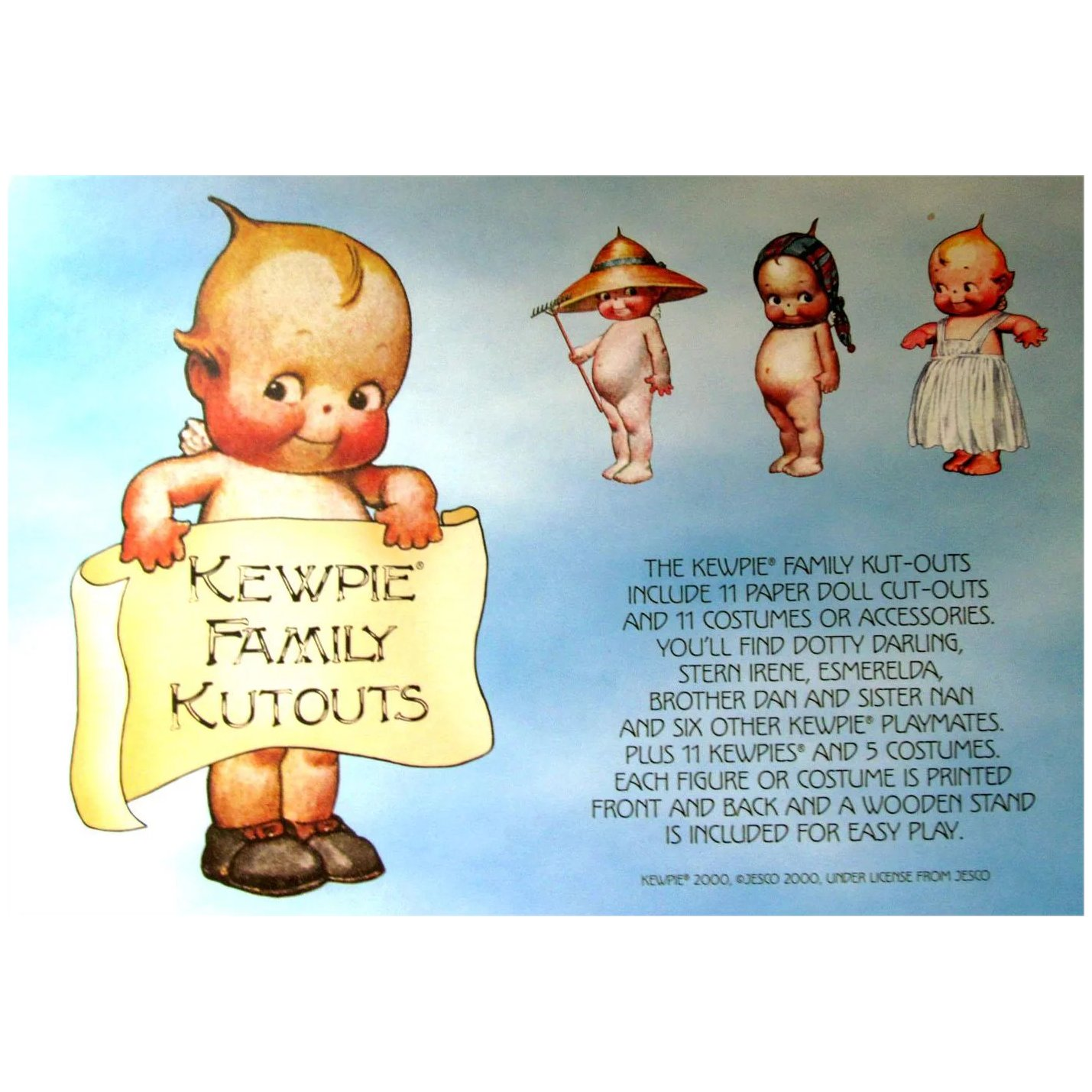 KEWPIE FAMILY CUTOUTS-11 Paper Doll and 11 Costumes or : Lulu ...