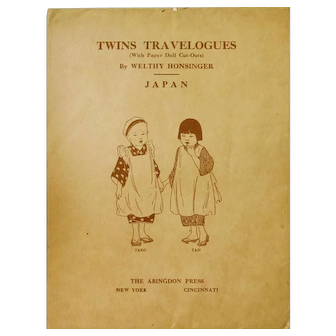 JAPAN: Twins Travelogues Cut Outs, Dated Sept. 15, 1908 by  Welthy Honsinger: Abingdon Press New York