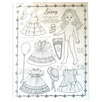 Ginny VOGUE Drawings by Pat Stall: 1983 Models Party Frocks from Montgomery Ward Catalogue