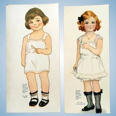 SAALFIELD My Sweet Dollies; UNCUT Mint Condition Boy and Girl No. 1BS With 3 Outfits Each; Jack and Elizabeth