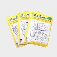 AUNT MARTHA 3 Hot Iron Transfer Patterns 1950's; Dottie the Duck, Eight Kittens, Rabbit Tea Towels