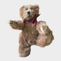 "Boyd's Mohair Bear; Brown 5-3/4"". Archive Series 1990-1993 Discontinued Jointed and Rotating Head"