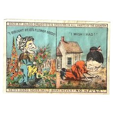 C. 1900's Flower Seed Colored Advertising Paper: W.H. Reid Flower Seed Company