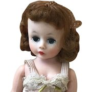 CISSETTE Early Auburn Hair 1950's Madam Alexander with Camisole Undies, Stockings and Shoes