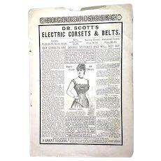 Dr. Scott's ELECTRIC Corsets & Belts Advertising; Magazine Advertisement