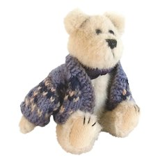 BERRIMAN BOYS BEAR Cardigan Sweater Boys Archive Bear #91392; 1997/Retired 1999
