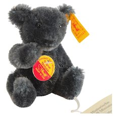 STEIFF CHARCOAL TEDDY  Historic World of Miniatures II; A Wee 3 Inches Tall