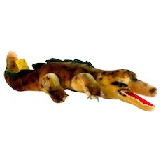 GATY the STEIFF VERY Long 14 Inch Crocodile Alligator; 2315, 1959