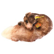 STEIFF DORMY DORMOUSE 2312,00; Body Brown-tipped Mohair in Excellent Condition