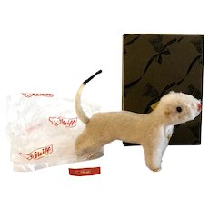 """1612,04: With Box STEIFF Ermine Named WIGGY; 1962 Made of Dralon and 11"""" Long"""