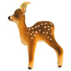 "STEIFF FAWN 1958; Small Size 5-1/4"" Tall-1958; 6412,0 Partially Hand Made"