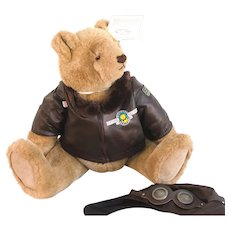 "GUND BALOSKI AVIATOR - Vintage 1986 Very Large 17"" Aviator: Limited Edition 1601/4320"