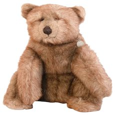 Brown Plush GUND Merciful Bear; 17 Inches Tall Sitting and in Un-Played With Excellent Condition-1985 bear with different coloring.