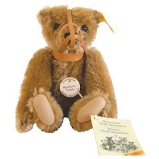 STEIFF MAULKORB TEDDY  Classic, Historic Miniature Series of Bears Gone By, 1908 Replica