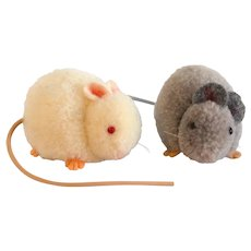 STEIFF Pompom Mice - One Grey & One White; 7354,04/7255,04