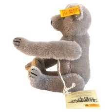 STEIFF RICHARD TEDDY Historic Steiff Miniatures Collection. #029172 Light Grey Jointed Teddy Replica