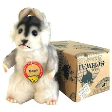 """44615 With Box - GOGO the Chinchilla; 1965; Swivel Head - Character Taken from the book """"Around the World with Gogo"""""""