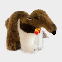 STEIFF TAPIR ANTEATER Discontinued 1995 ANDY Named on His Chest Tag; Very Long 9 Inches