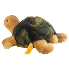 "STEIFF TURTLE ""SLO"";  7"" Long, 1995 - Discontinued With Box *068393"