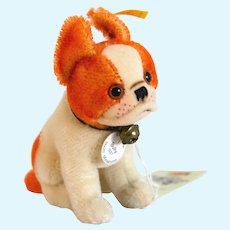 "STEIFF 031496 BULLY the Bulldog 1927 Replica; 1995  -5"" Tall"