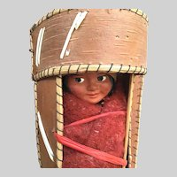 Skookum Baby Board Traveler Doll with Straw Wrapped Beads Attached