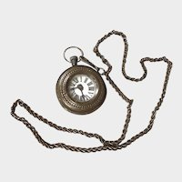 Large Doll Copper WATCH with Long Box Linked Chain Attachment