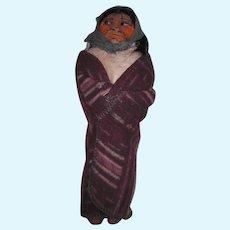 OOAK Mary Francis WOODS; Indian Skookum Signed Feet; 1920-1930's Purple Blanket
