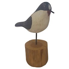 Folk Art Carved & Painted Shorebird #1