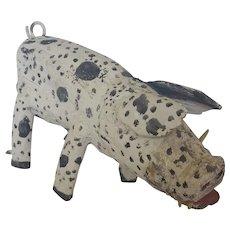 "Primitive Pig Boar by Santa Fe Folk Artist Mike Rodriguez Dtd. ""83"""