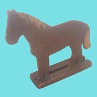 Vintage Primitive Folk Art 2-Dimensional Carved and Painted Horse