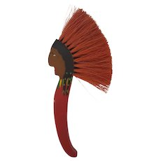 Kitschy Vintage Native American Motif Clothes Brush