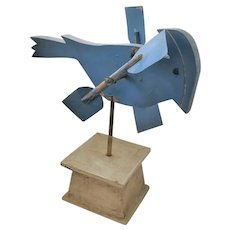Vintage Naive Folk Art Blue Jay Whirligig from my Collection
