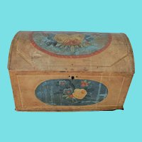 19th C. Scandinavian Folk Art Painted Table Casket from Collection of Mario Buatta