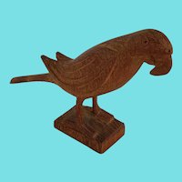 Vintage PA. Folk Art Miniature Parrot Carving