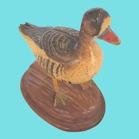 Vintage PA. Folk Art Miniature Goose Carving