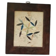 Antique 19th C. PA. Folk Art Pinwheel Fraktur Signed Sarah Zirkel
