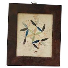 Antique 19th C. PA. Folk Art Pinwheel Fraktur Signed Sarah Zirkel