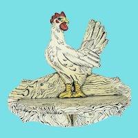 Vintage Naive Folk Art Chicken Design Hanging Shelf #1