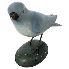 Vintage Folk Art Bluebird Carving