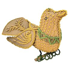 Antique Dated 1905 Native American Beaded Bird Whimsy from my Collection