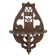 Vintage Handmade Folk Art Masonic Hanging Whatnot Shelf from my Collection