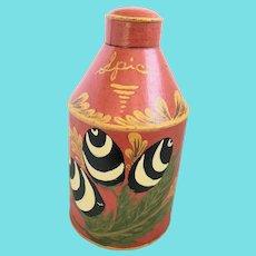 Vintage PA. Amish Folk Art Toleware Spice Tin