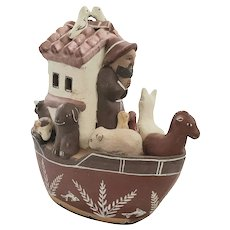 Vintage Latin American Folk Art Pottery Noah's Ark from my Collection