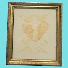 19th C. Folk Art Scherenschnitte Woven Hearts & Birds Love Token from my Collection