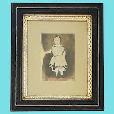 Antique 19th C. Folk Portrait of Young Child