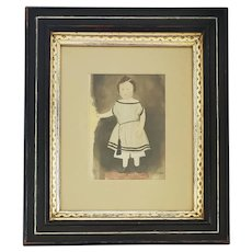 Antique 19th C. Folk Portrait of Young Child
