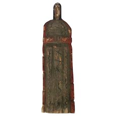 Vintage Primitive Mexican Folk Art Santos Figure of the Blessed Mother
