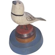 Vintage American Folk Art Fancifully Painted Bird Carving From My Collection