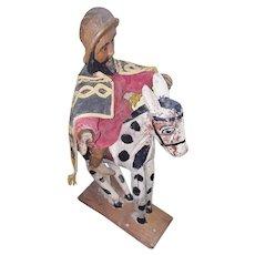 Vintage Latin American Folk Art St. James the Moor Slayer Bulto #2
