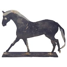 Vintage PA. Folk Art Cut Iron Horse Silhouette From my Collection